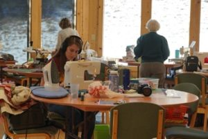 Lauren Weaver well representing the variety of generations of quilter participants.